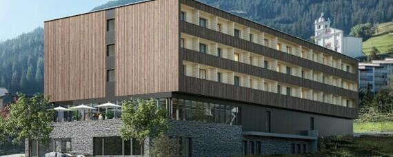 Nachhaltiges Hotel aus Holzmodulen